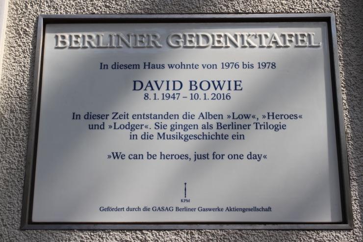 David Bowie memorial, Berlin, Germany