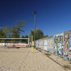 Berlin Wall street art, Park am Nordbahnhof, Berlin, Germany