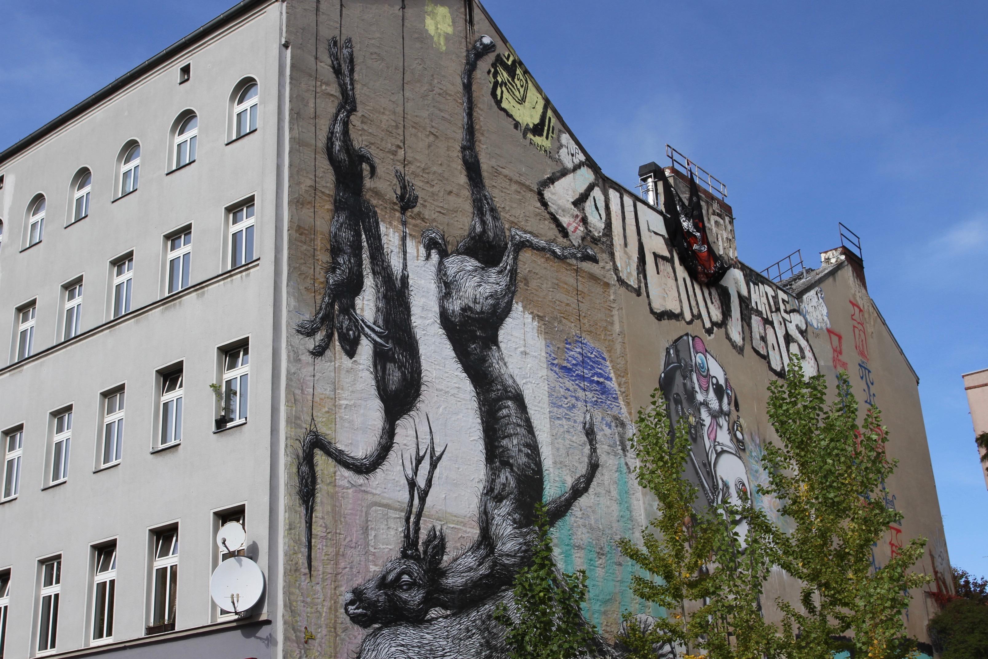 ROA, street art, Berlin, Germany