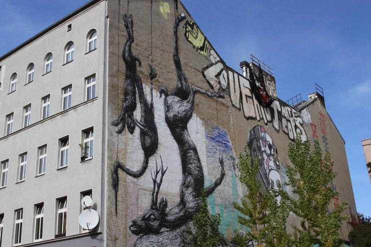 ROA, street art, Berlin, Germany