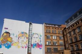 See no evil, Speak no evil and Hear no evil, street art, Berlin, Germany