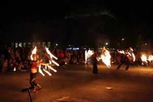 Fire jugglers, Festival of Lights, Berlin