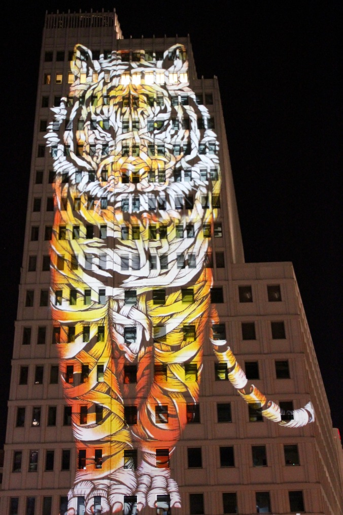 Tiger, Potsdamer Platz, Festival of Lights, Berlin