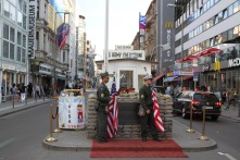 Checkpoint Charlie as tourist site, Berlin, Germany