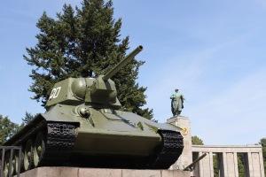 T34 Russian tank, Soviet Memorial, Tiergarten, Berlin, Germany