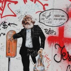 Karl Marx graffiti on Berlin Wall, Berlin, Germany