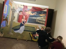 Painting a family portrait, Syracuse, Sicily, Italy