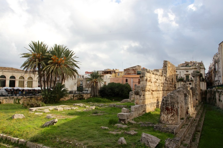 Temple of Apollo near the fish market, Syracuse, Sicily, Italy