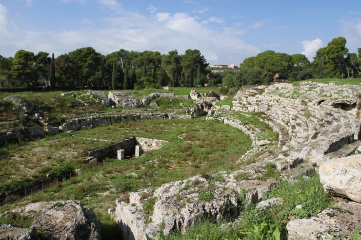 Roman Theatre, Parco Archeologico Neapolis, Syracuse, Sicily, Italy