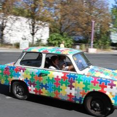 Trabant iconic GDR car, Berlin, Germany