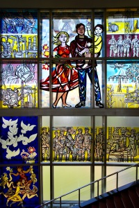Stained glass mural, GDR Council of State building, Berlin, Germany