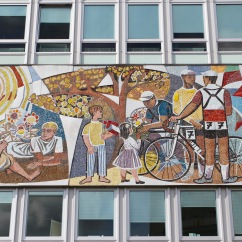 1960s mural at the Haus des Lehrers, Berlin, Germany