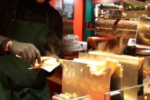 Melted cheese, Gendarmenmarkt Xmas Market, Berlin, Germany
