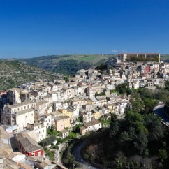 Ragusa Ibla from Ragusa Superiore, Sicily, Italy
