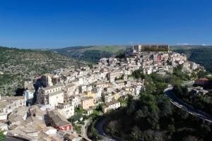 Ragusa Ibla from Ragusa Superiore, Sicily, Italy