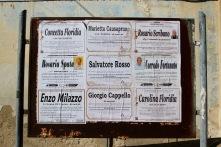Death notices, Ragusa Superiore, Sicily, Italy