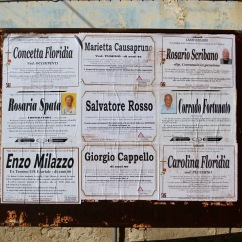 Death notices, Ragusa Superiore, Sicily, Italy