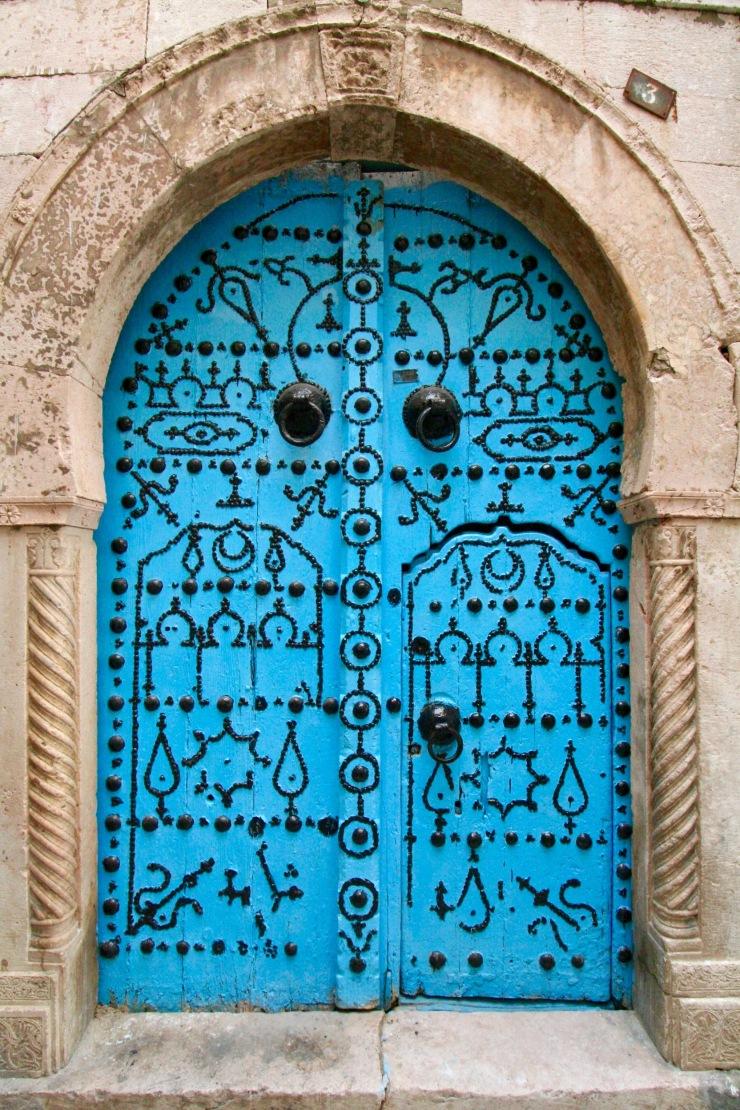 Door in the Souk, Tunis, Tunisia