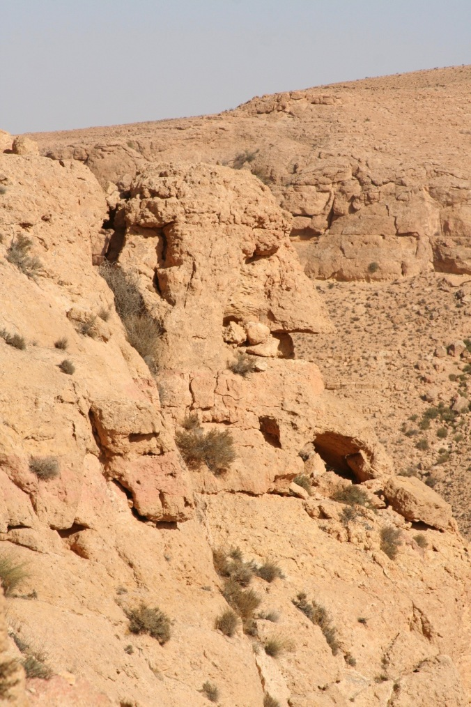 A head rock formation, Berber village of Douiret, Tataouine, Tunisia