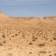 The route to Douiret, Tataouine, Tunisia