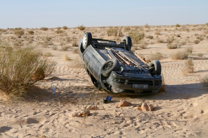 Car crash en route to Douz, Tunisia