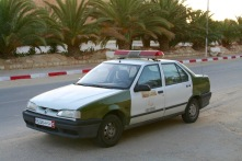 Police car and taxi, Douz, Tunisia