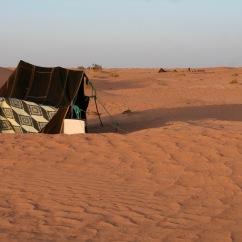 Berber tent, oasis of Ksar Ghilane, Grand Erg Oriental, Tunisia