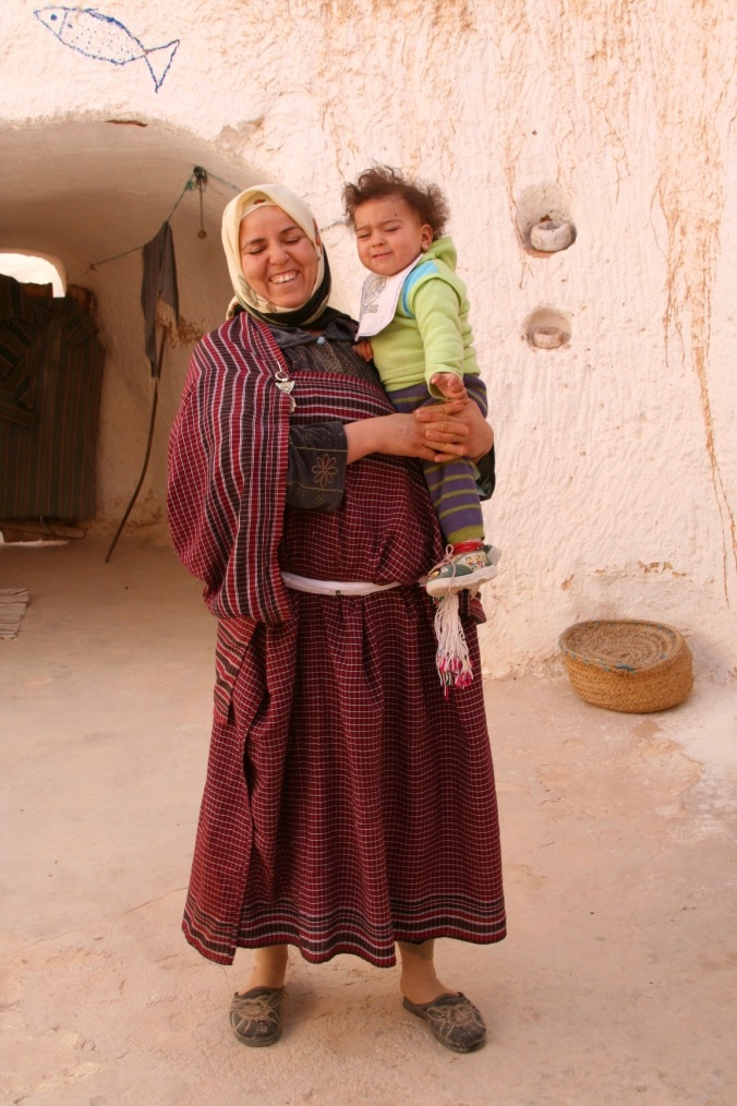 Berber woman and child near Matmata, Tunisia