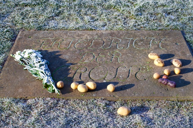 Frederick the Great's grave, Sanssouci Palace, Potsdam, Germany