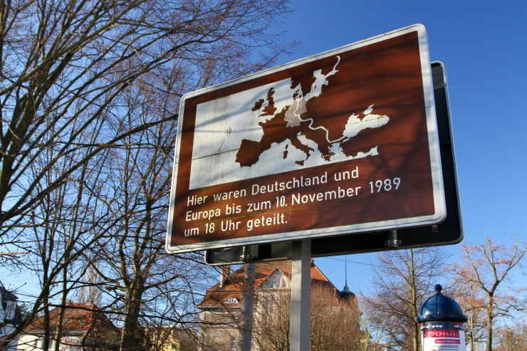 Sign close to Glienicker Brucke, Potsdam, Germany