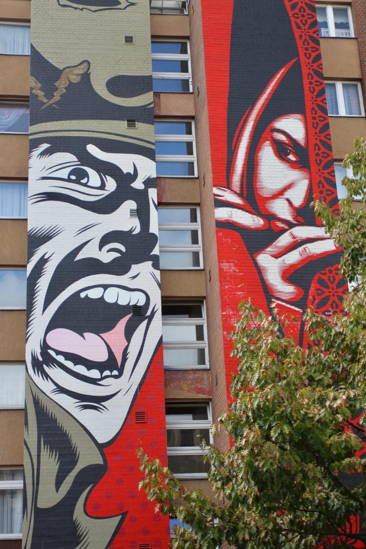 Israel / Palestine by Shepard Fairey, Berlin Street Art, Germany