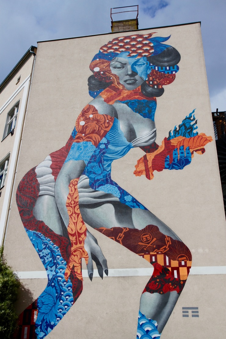 Attack of the 50 Foot Socialite, Berlin Street Art, Germany
