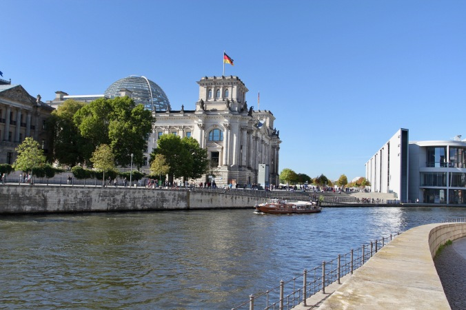 Reichstag on the River Spree, Berlin, Germany