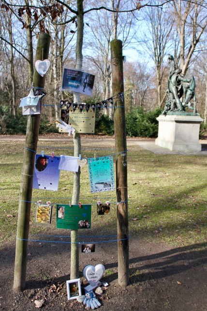 Weird Michael Jackson memorial, Tiergarten, Berlin, Germany