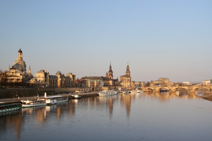 River Elbe in Dresden, Germany