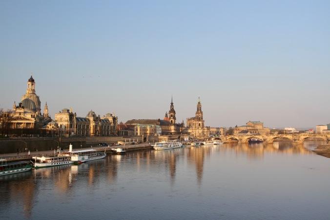 River Elbe in Dresden, Germany
