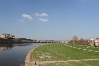 River Elbe, Neustadt, Dresden, Germany