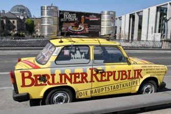 Trabby on a bridge, River Spree, Berlin