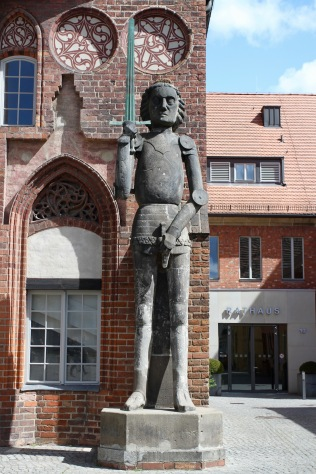 Town Hall with stature of Roland, Brandenburg an der Havel, Germany