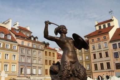 Warsaw Mermaid, Old Town, Rynek Starego Miasta, Warsaw, Poland