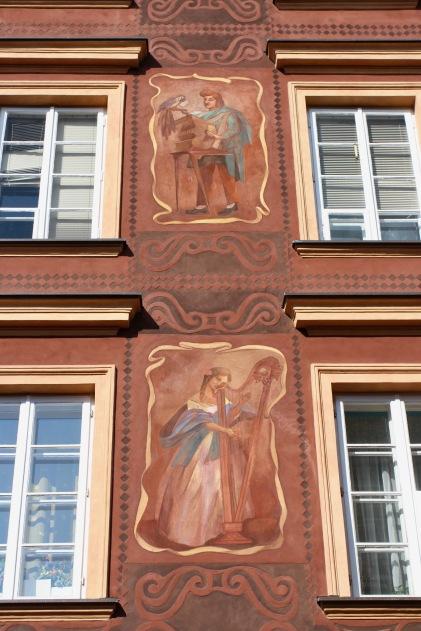 House detail, Old Town, Warsaw, Poland