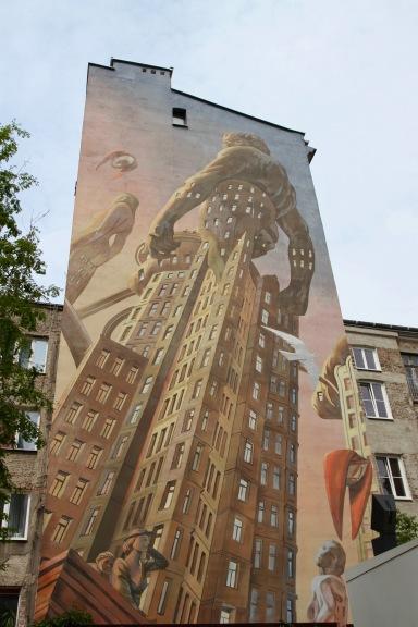 Street art, Warsaw, Poland