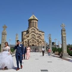 Wedding group, Holy Trinity Cathedral, Tbilisi, Georgia