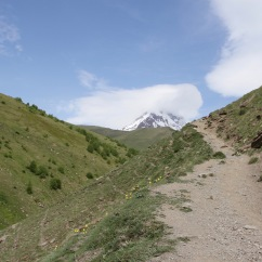Stepantsminda, Kazbegi region, Caucasus mountains, Georgia