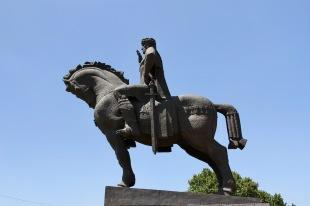 Statue of King Vakhtang Gorgasali, Old Town, Tbilisi, Georgia