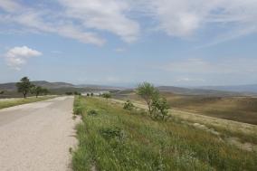 The road to David Gareji Monastery, Kakheti, Georgia