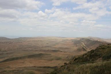 Azerbaijan from Mount Gareja, David Gareji Monastery, Georgia