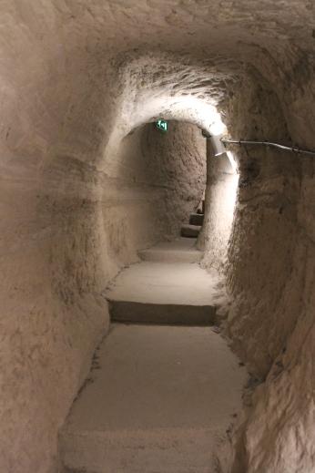 Interior tunnels, cave city of Vardzia, Georgia