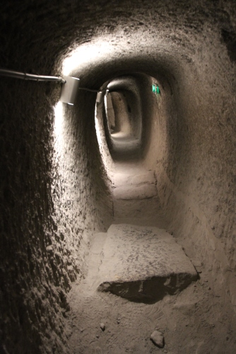 Interior tunnels, cave city of Vardzia, Georgia