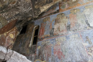 Frescoes, cave city of Vardzia, Georgia